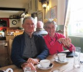 Teas at the Avon Inn - Our leader Sal and support Barry H