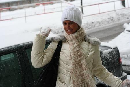 Nieva en Praga