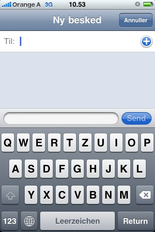 German iPhone keyboard layout