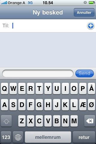 Danish iPhone keyboard layout