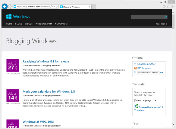 BloggingWindows