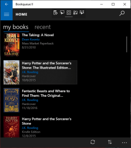 Bookqueue Home Screen