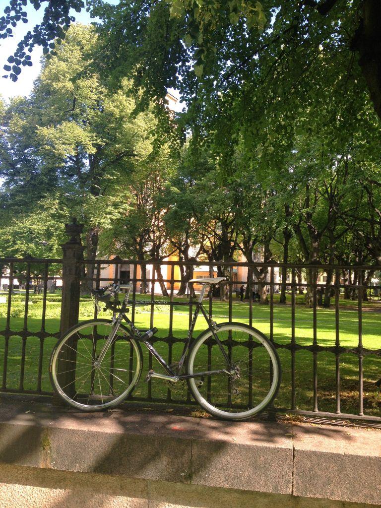 Bike at S:ta Maria Magdalena kyrka, Stockholm