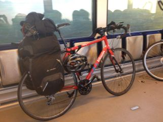 Totta's bike on a Arriva