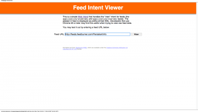 Feed Intent Viewer