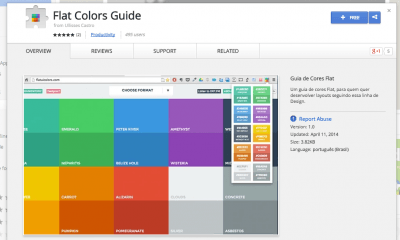 Flat Colors Guide - Chrome Web Store