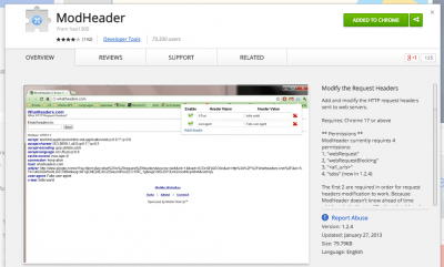 ModHeader - Chrome Web Store