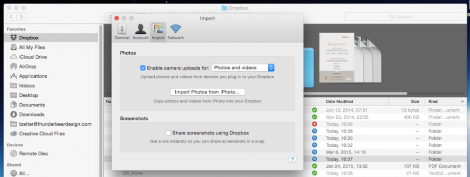 Import_and_Dropbox