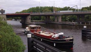Crossing Ringvaart from Badhoevedorp to Amstelveen Netherlands
