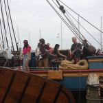 Music from ship in Volendam