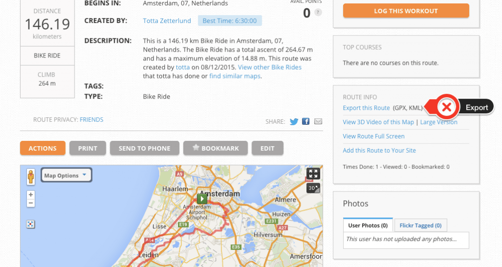 How to upload a GPX file to Hammerhead Navigation app from MapMyRide