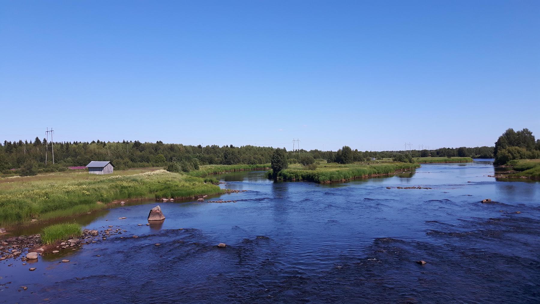 Torne River In Sweden