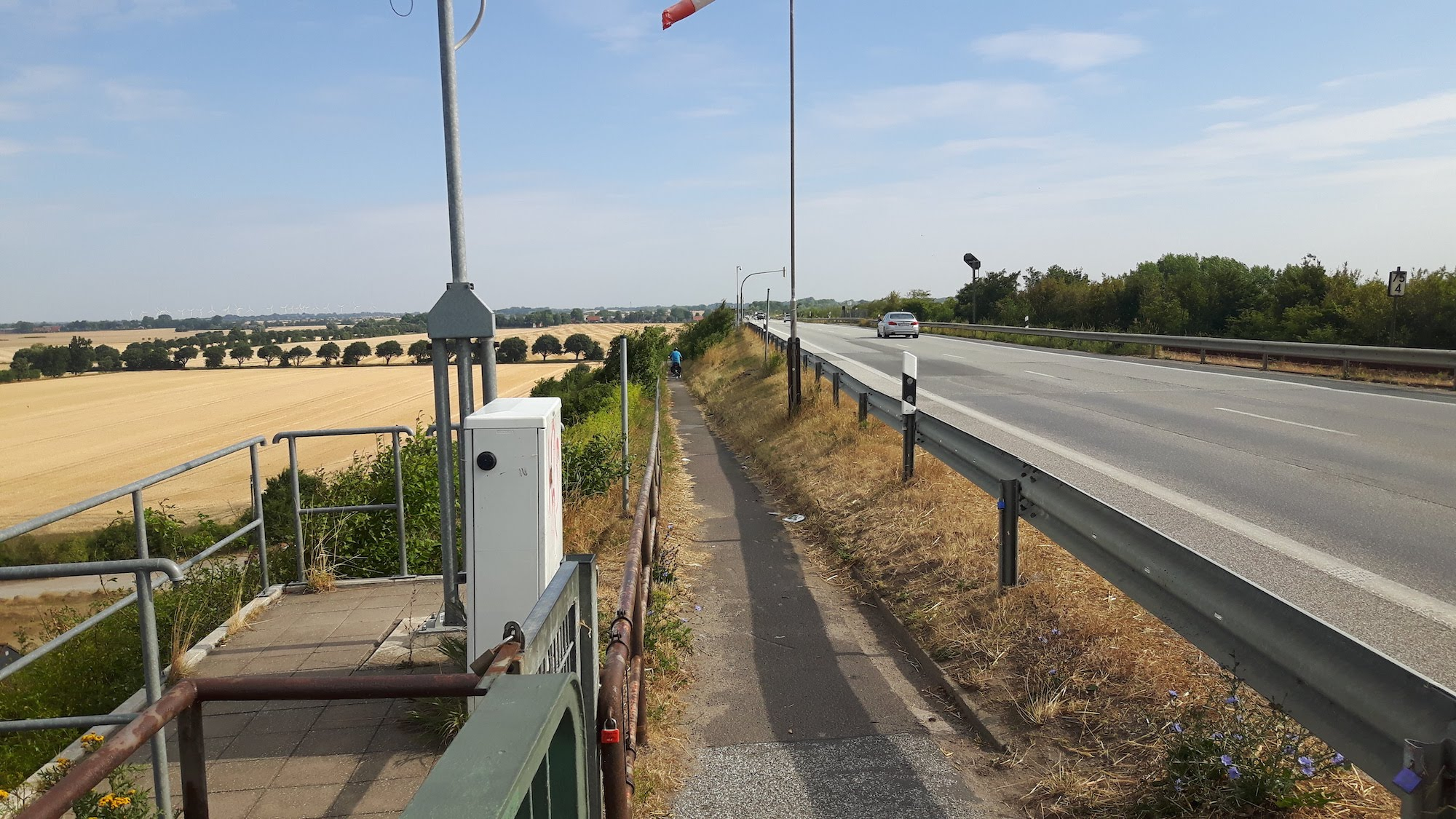 Cycle path for Bridge from Fehmarn Germany