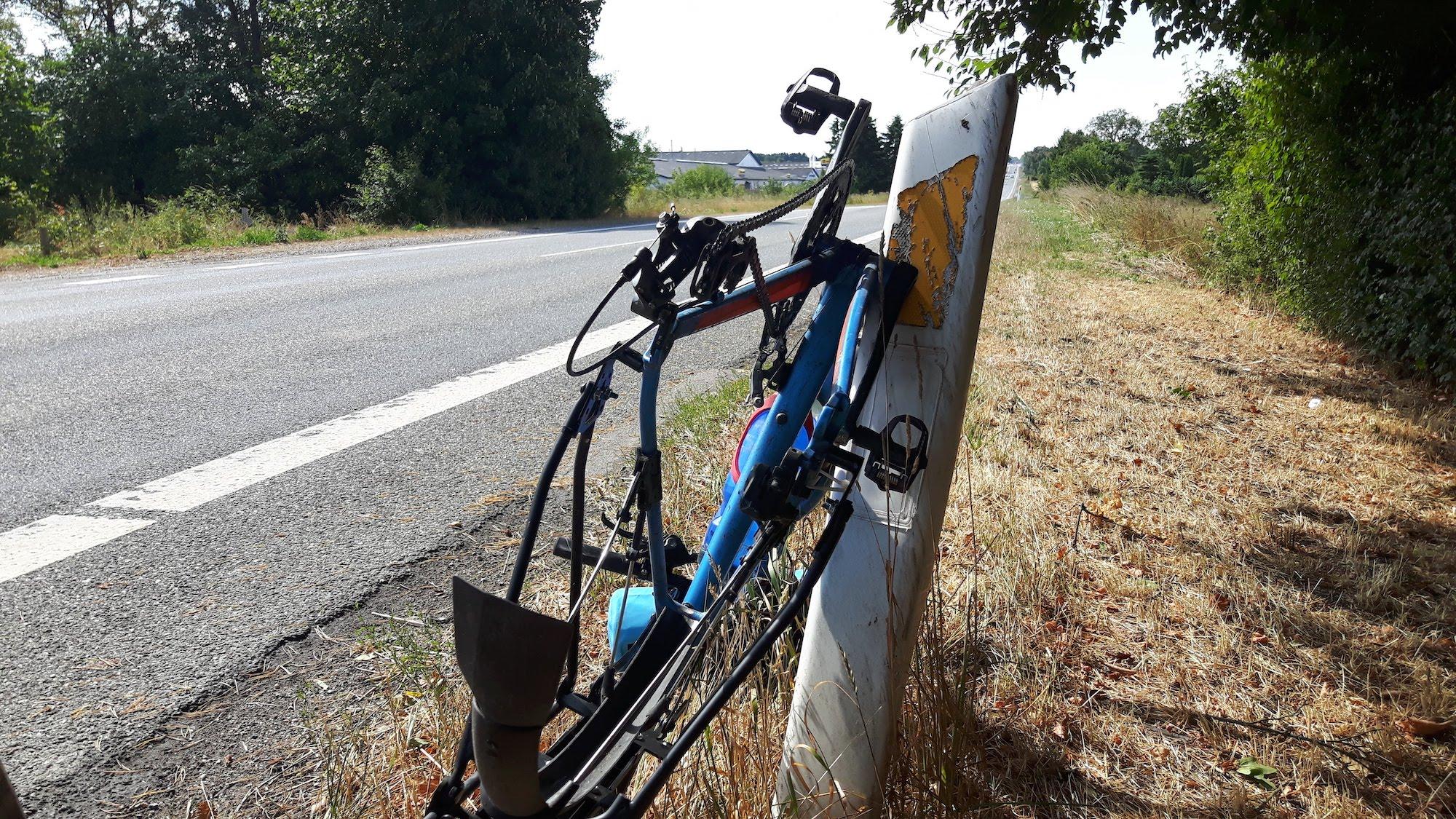 Bicycle along road