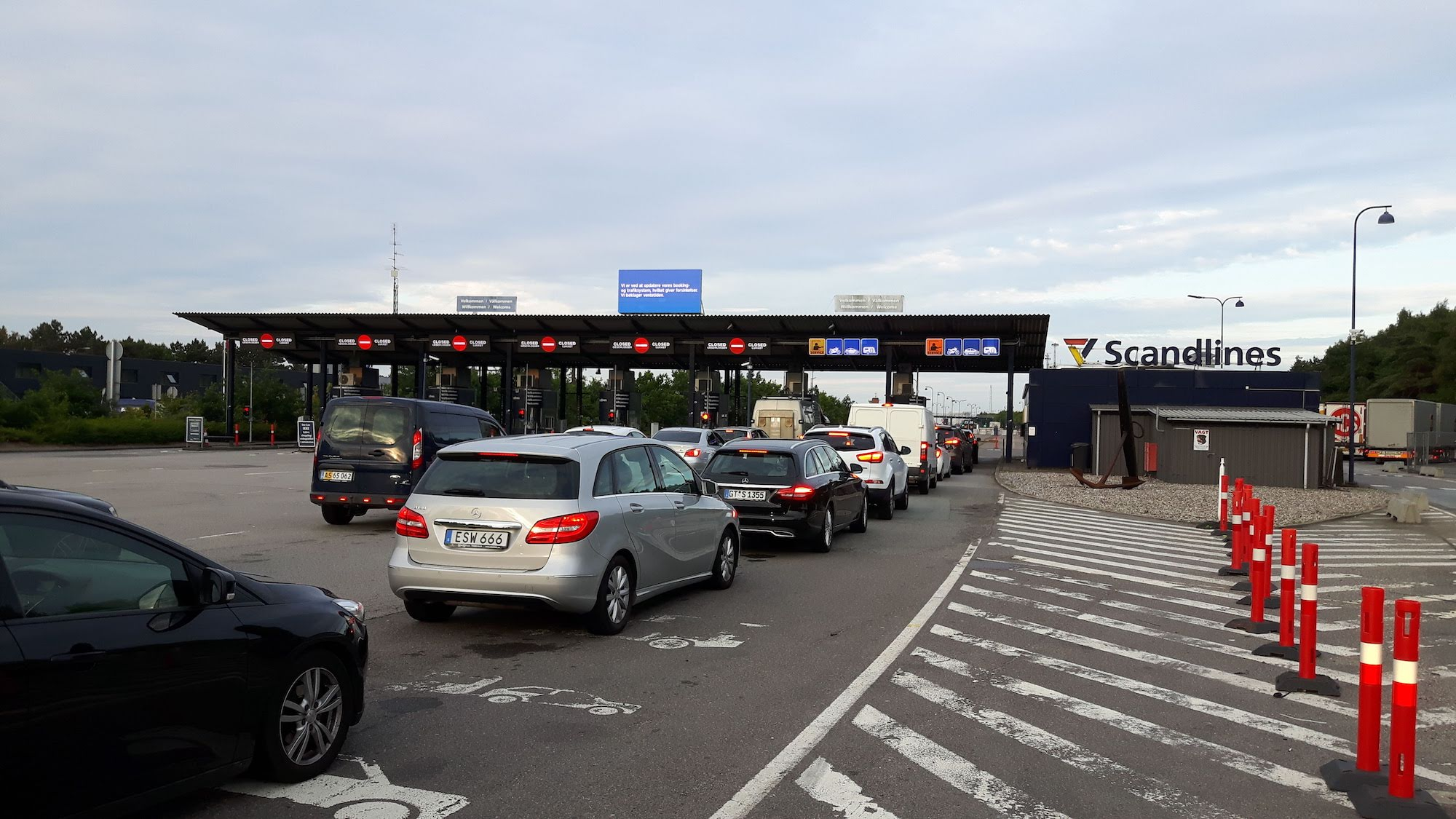Waiting in line for Ferry to Germany