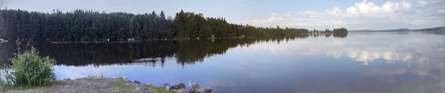 Lake view outside Tampere Finland