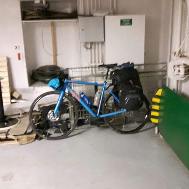 My Bike onboard the Ferry