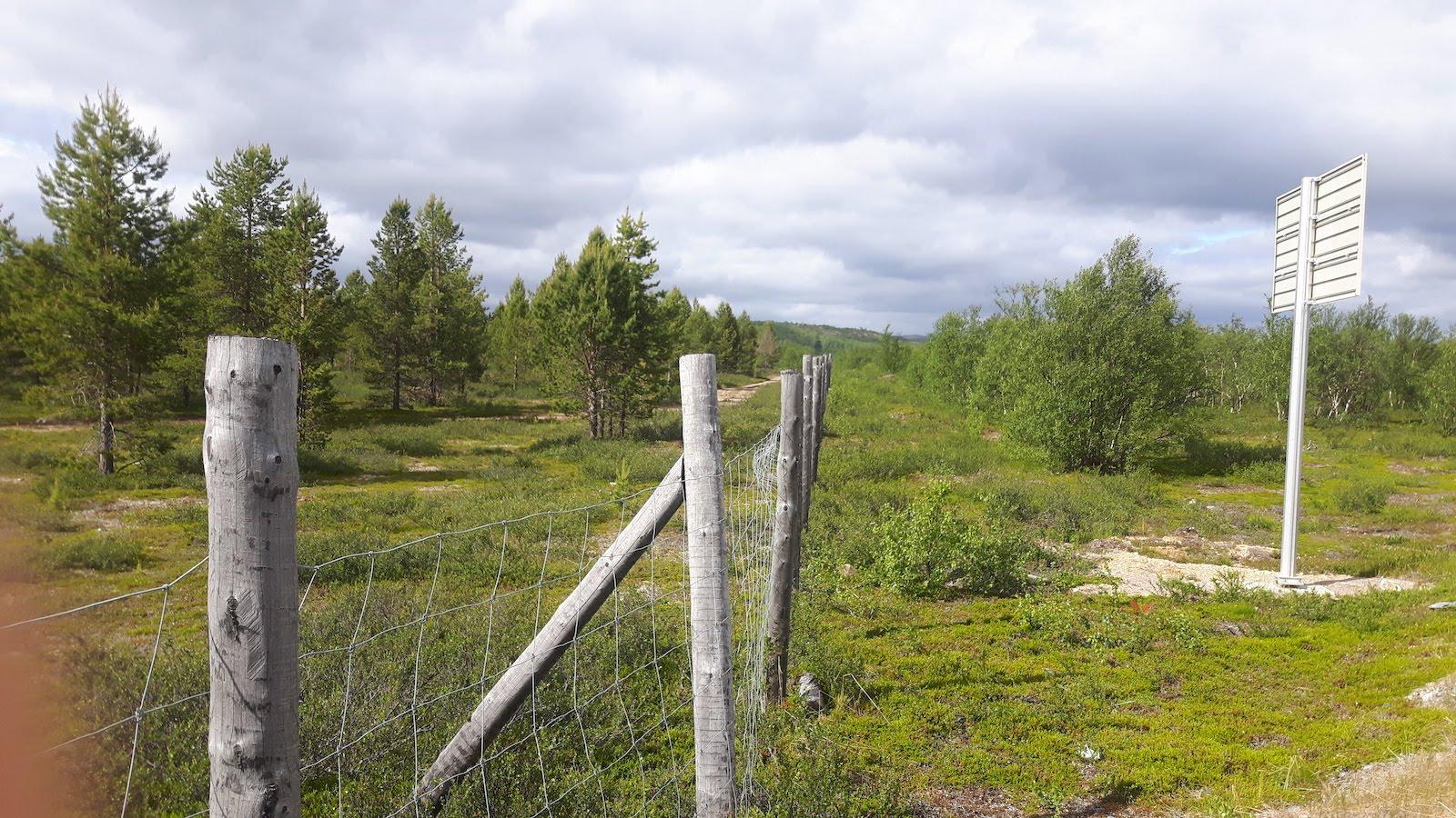 Norwegian Finish Border near Neiden Näätämö Finland
