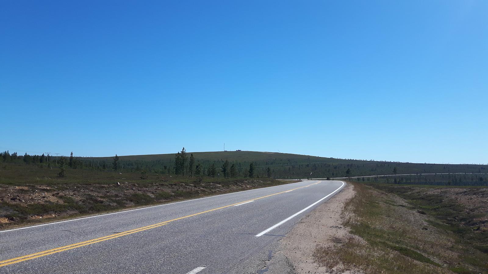 Road near Saariselkä Finland