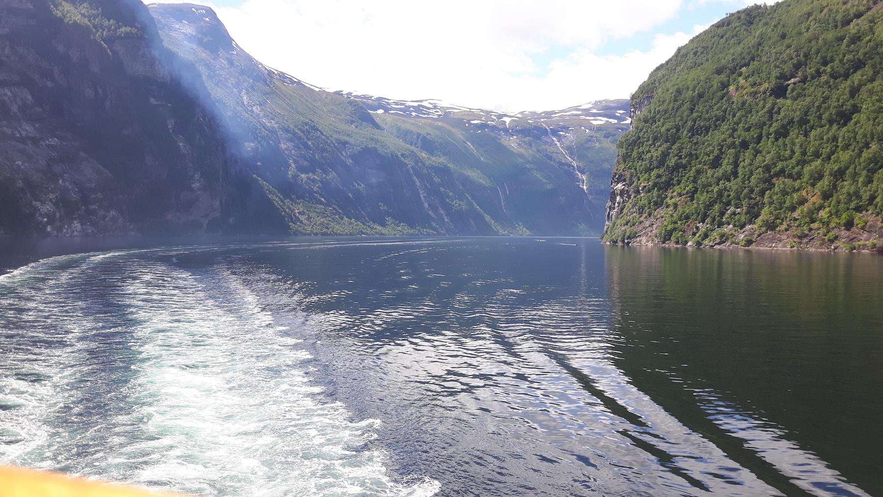 Deeper in Geirangerfjord Norway