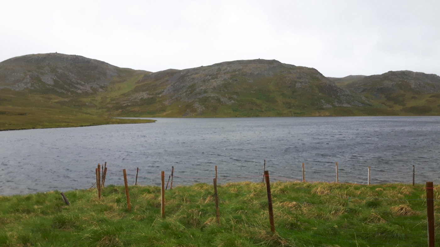 Fresh water lake along road to North Cape