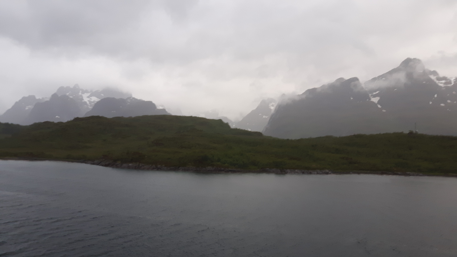 Lofoten Coast line mountain