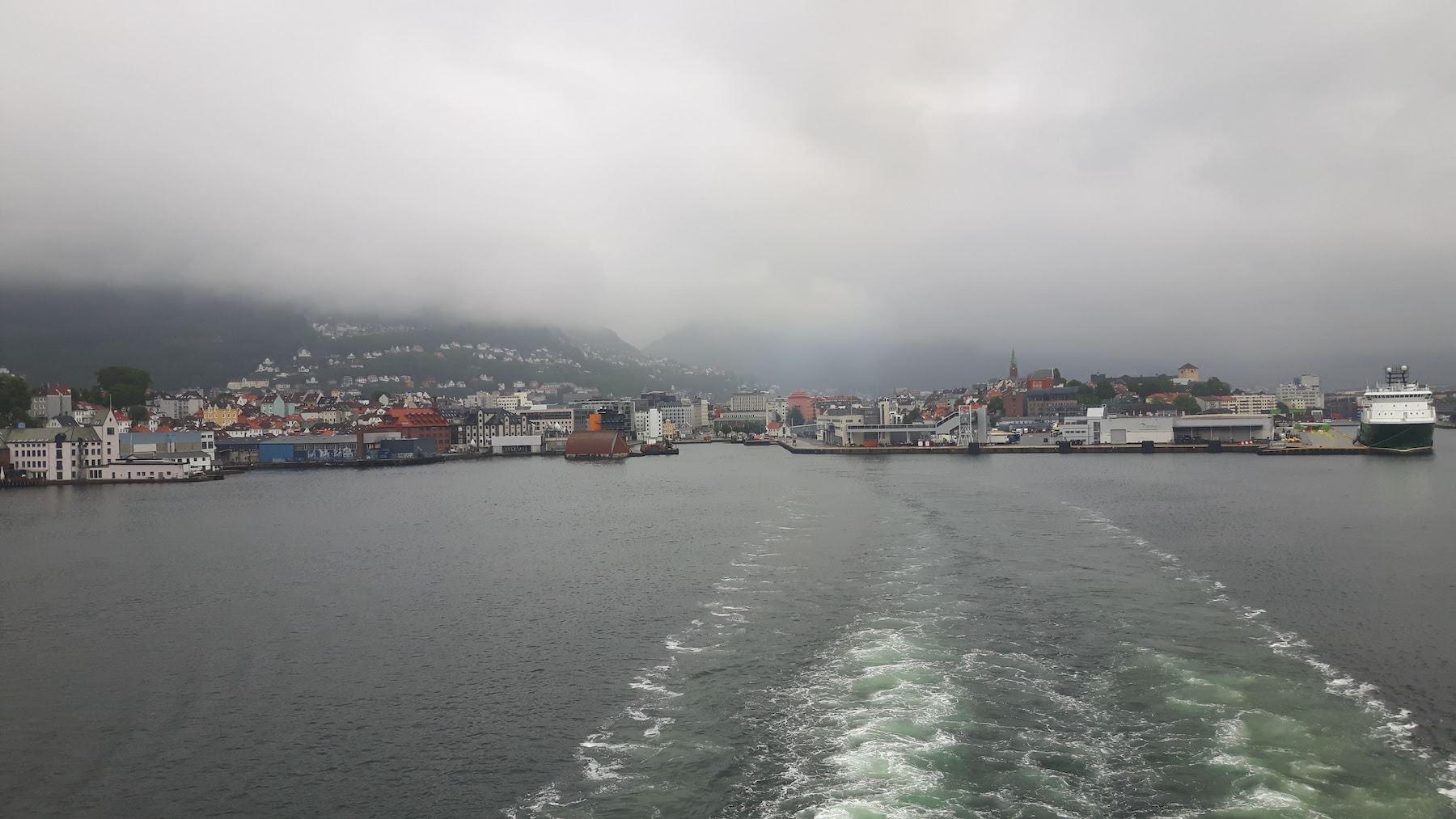 Leaving Bergen on a Ferry