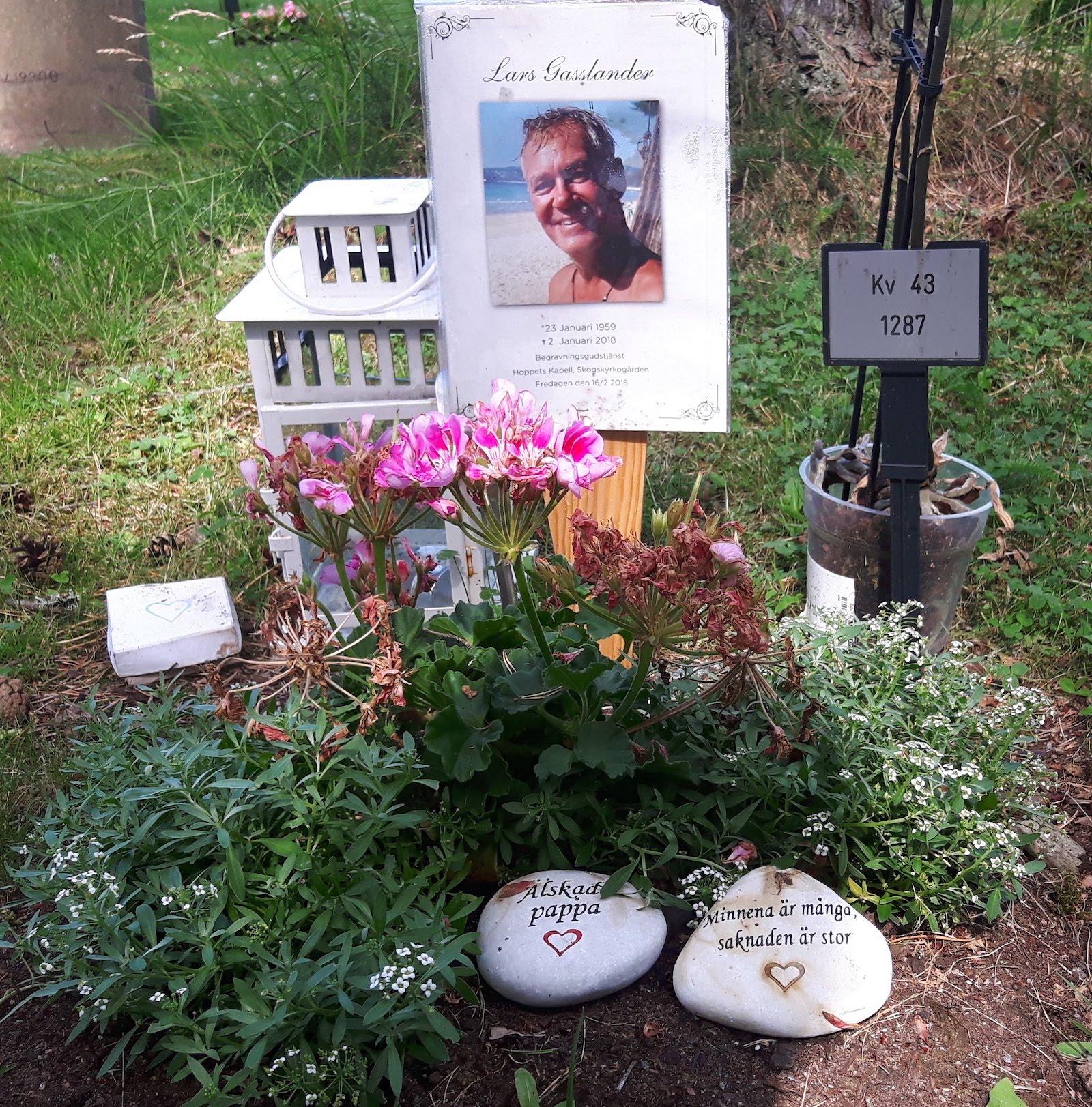 My Childhood Friend Lasse grave in Stockholm Sweden