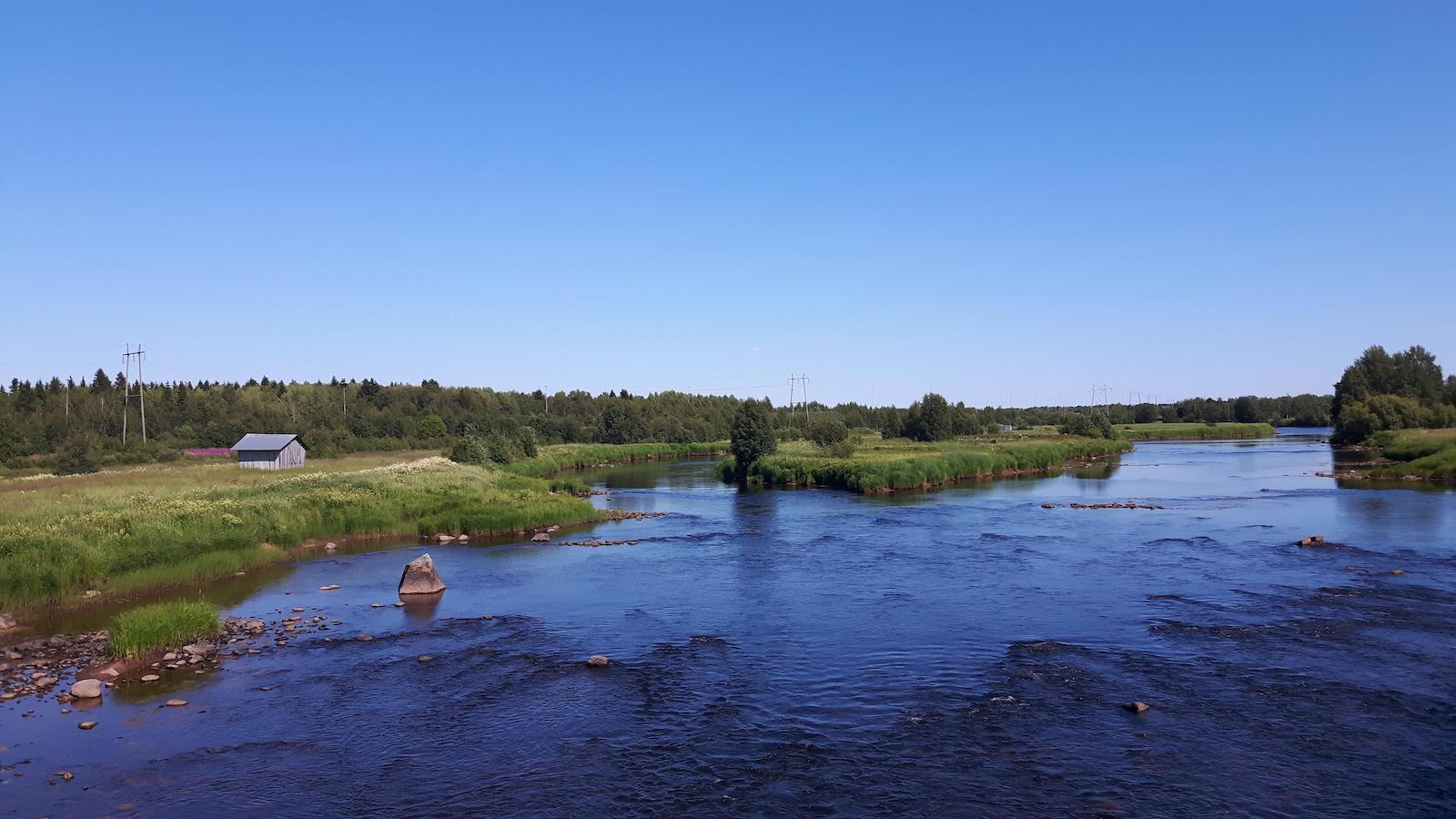 A stream on the way to Kemi Finland