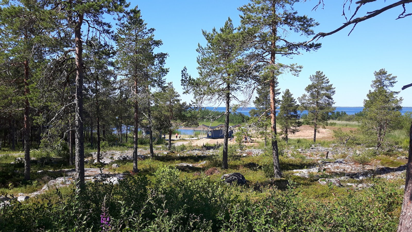 Beach and sea between Kemi and Oulu Finland