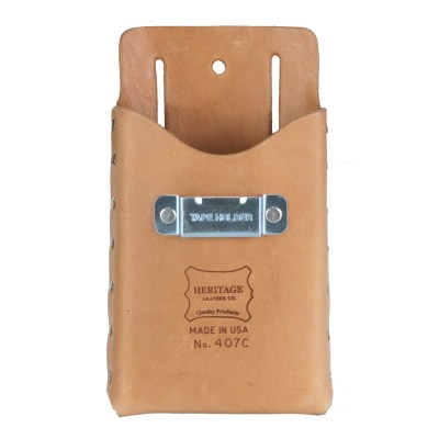 Single Pocket, Box Shape Tool Pouch with Tape Clip
