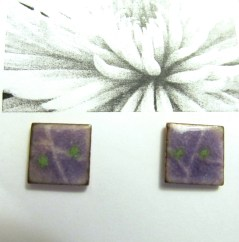 Enameled Earrings for those who like posts... not dangles