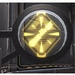 Circular Sign: Warrior