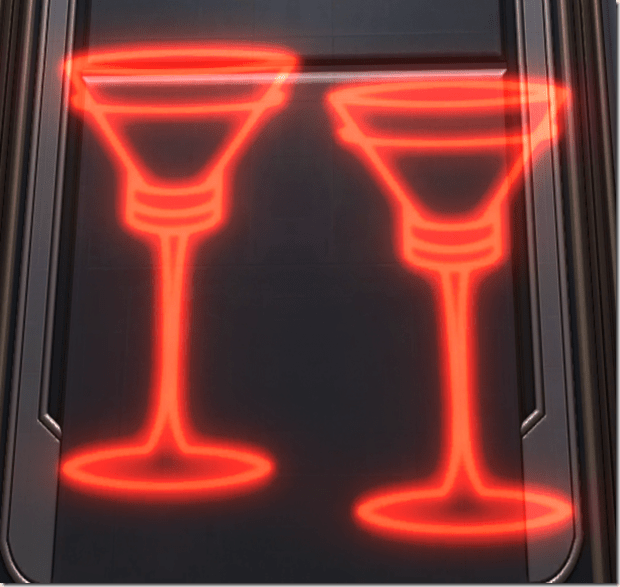 Holo Sign Champagne Glasses