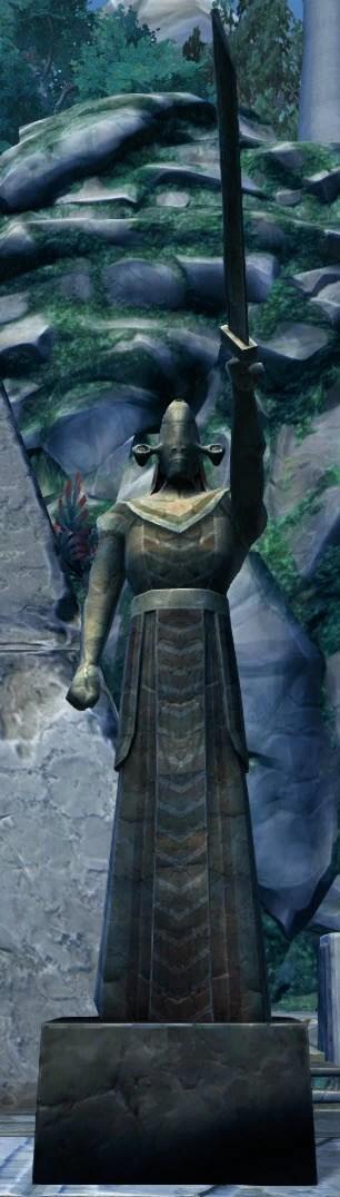 Rakata Guard Statue