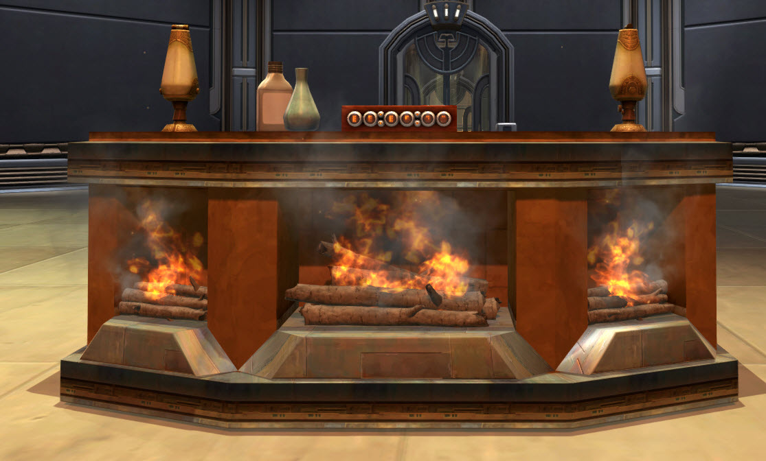 Life Day Fireplace
