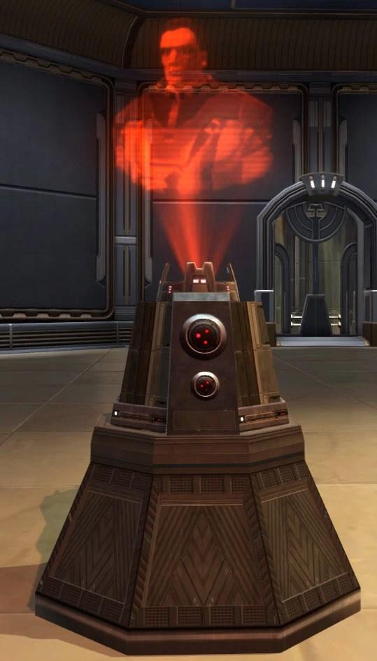 Sith Warrior Memorial Holoprojector