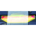 Holo Sign: Spaceship Rental (Yellow)