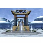 Alderaan Courtyard Fountain