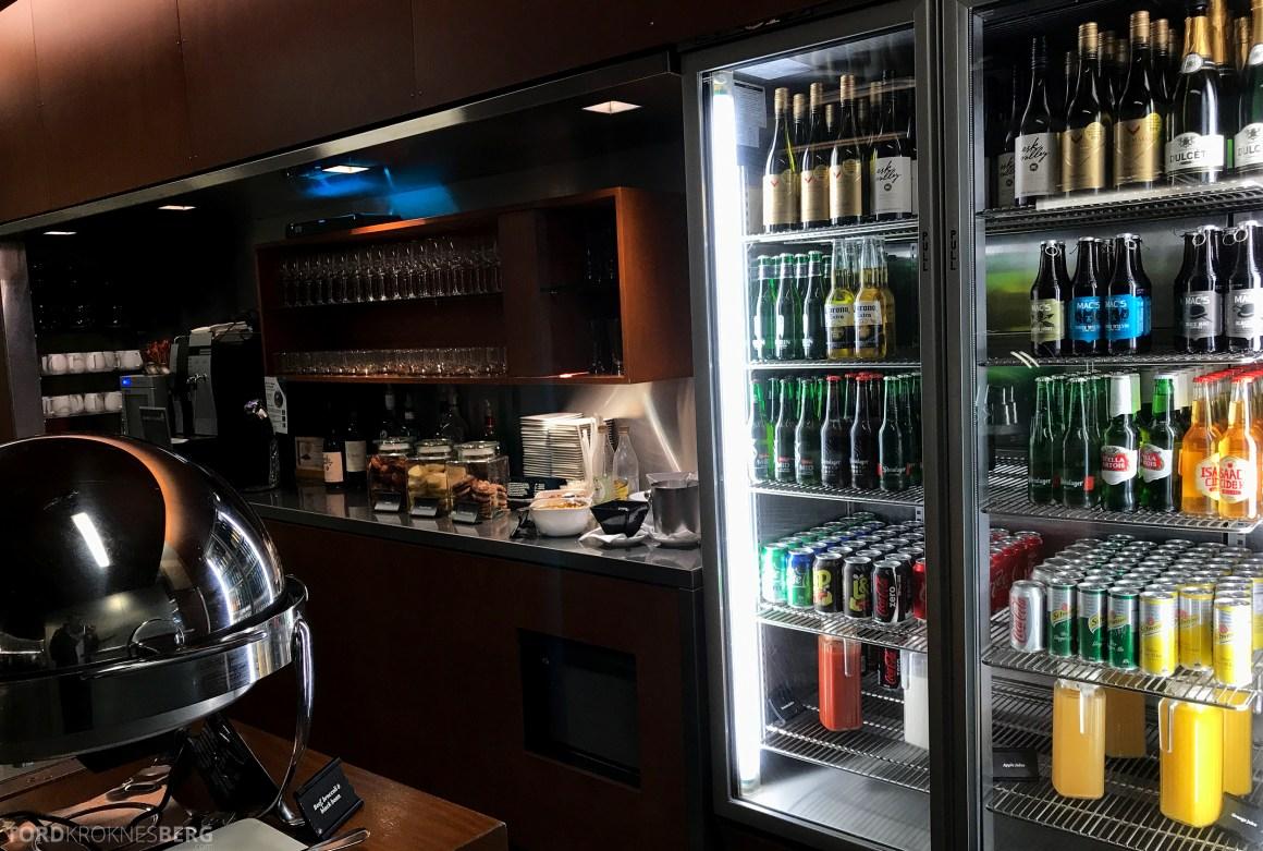 Air New Zealand Lounge Wellington drikke