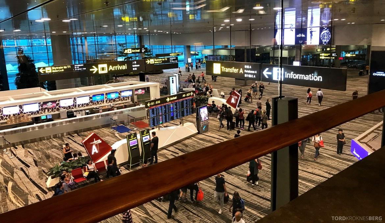 Singapore Airlines SilverKris Lounge utsikt