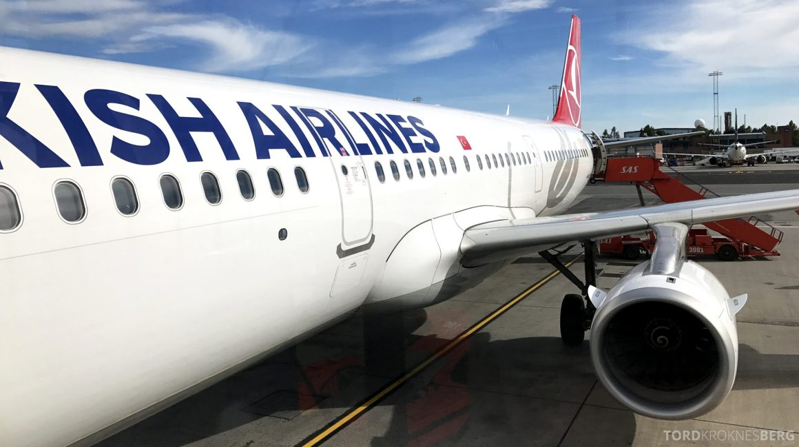 Turkish Airlines Business Class Oslo Istanbul fly