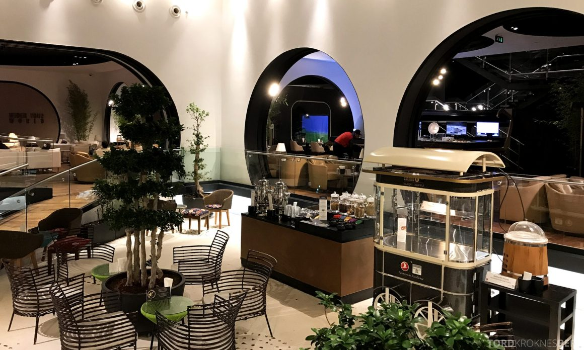 Turkish Airlines CIP Lounge Istanbul sitteplass