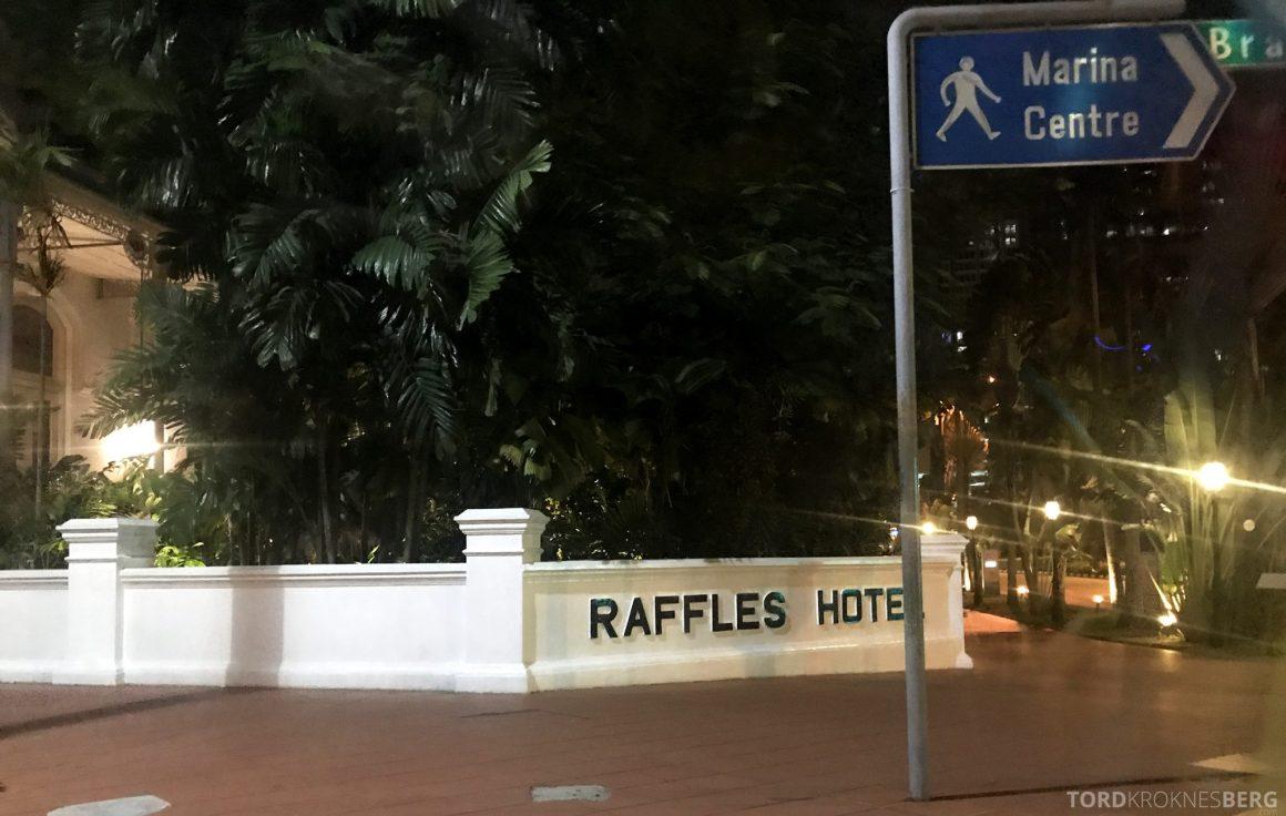 Raffles Hotel Singapore innkjørsel