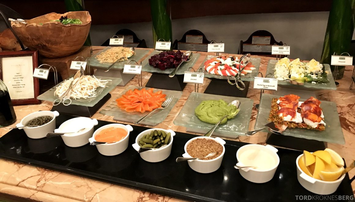 Raffles Hotel Singapore frokost