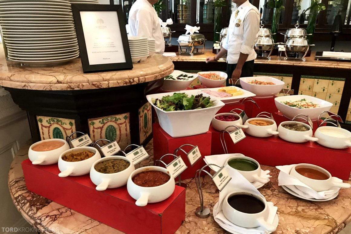 Raffles Hotel Singapore indisk lunch
