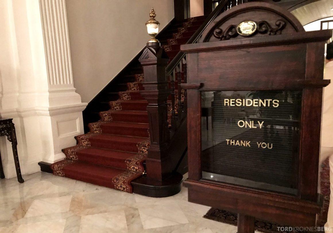 Raffles Hotel Singapore kun for gjester