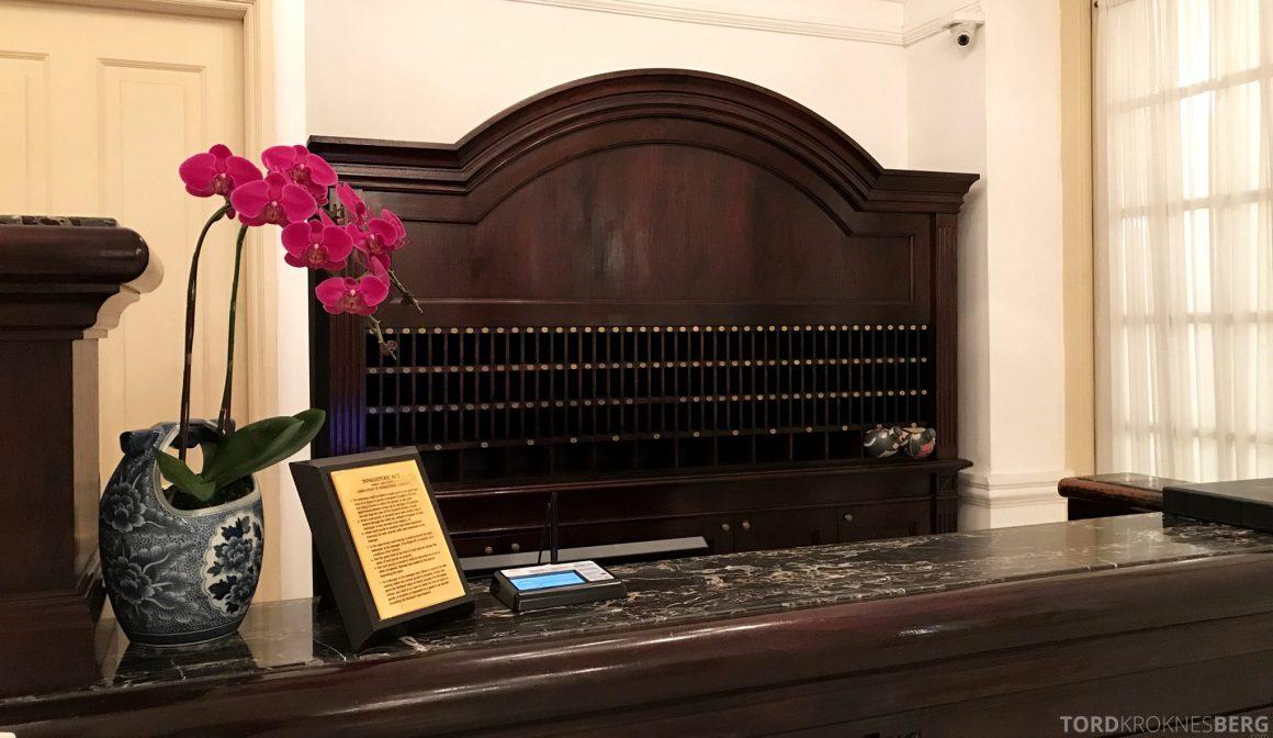 Raffles Hotel Singapore resepsjon utsjekk