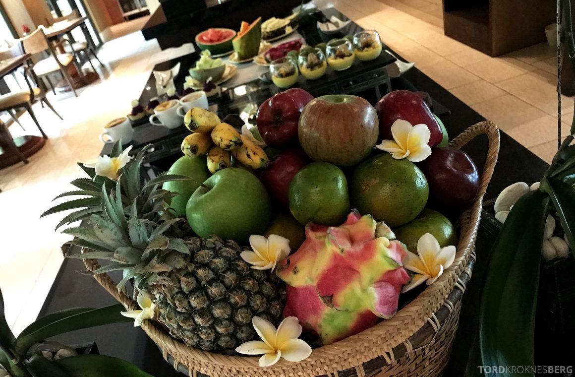Ritz-Carlton Bali Club Lounge frukt