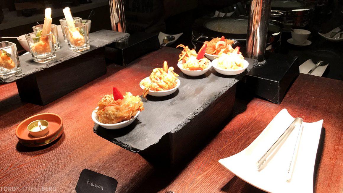 Ritz-Carlton Bali Club Lounge hors d'oeuvre småretter